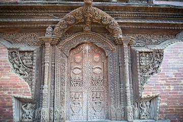 Hindu wood door