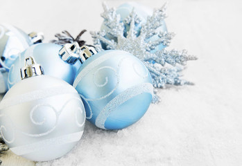 Silver and Blue Christmas Balls Decoration