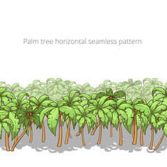 Palm tree horizontal pattern vector illustration