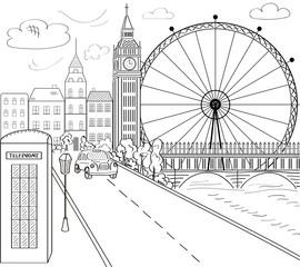 England, London. Big Ben, showplace