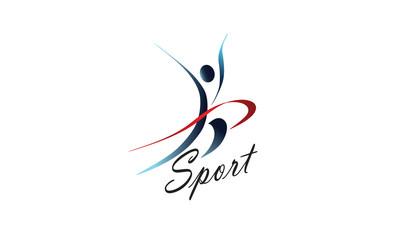 Cпортивный логотип,, бег, легкая атлетика, фитнес