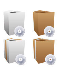 Set of vector box icons