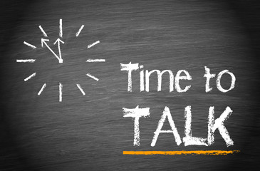 Time to talk - Clock with text