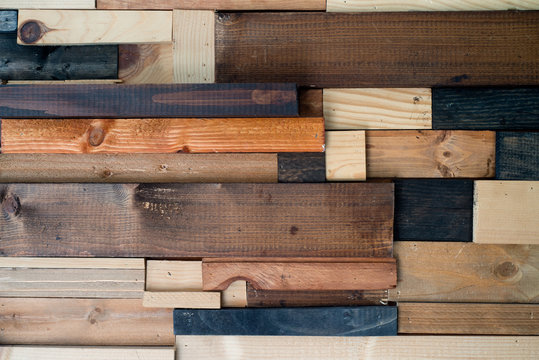 mosaic of pieces of wood