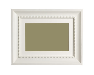 A wooden frame isolated on white background