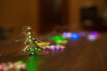 Christmas warm gold garland
