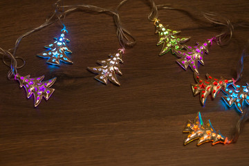 Christmas warm gold garland