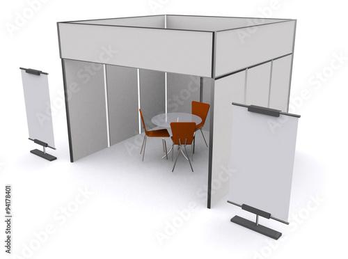 Exhibition Stand Design Mockup Free : Illustrated unique creative exhibition stand display design