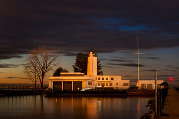 Last light on the abandoned Coast Guard station at Cleveland Ohio