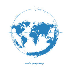 World Map Watercolor, Vector illustration