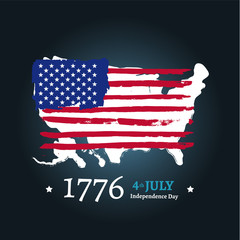 Fourth of July Independence illustration