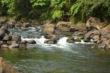 River and rocks and river banks photo