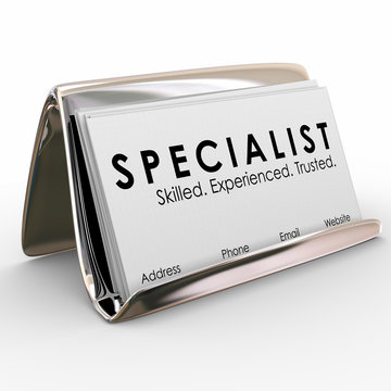Specialist Professional Experienced Skilled Business Cards