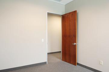 empty office with door open