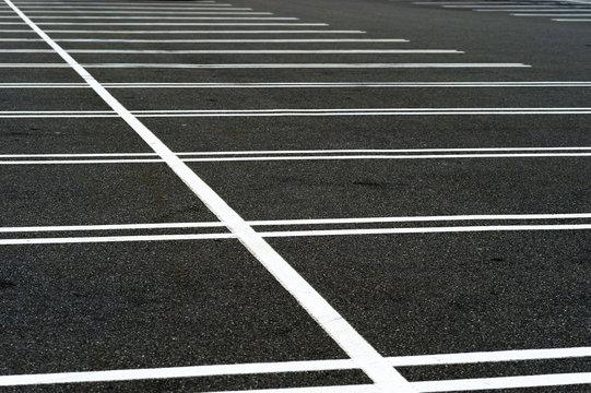 empty parking lot background