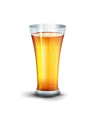 Vector glass with drink on the white background