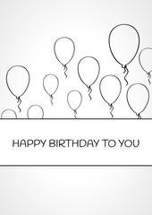 linear birthday card