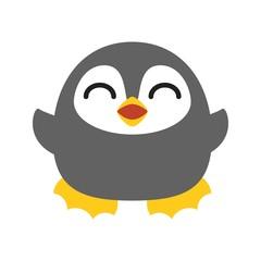 Vector penguin character, flat design
