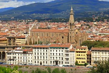 Florence, Italy. View of Basilica di Santa Croce