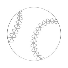 Illustration: Coloring Book Series: Sport Ball: BaseBall. Soft thin line. Print it and bring it to Life with Color! Fantastic Outline / Sketch / Line Art Design.