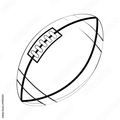 Illustration: Coloring Book Series: Sport Ball: Rugby Ball. Football ...