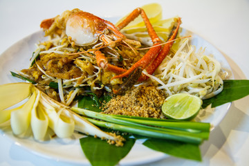 Pad Thai with fried river shrimp,Thai style noodle