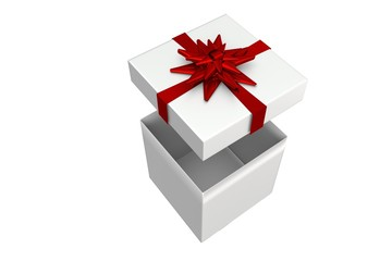 White and red gift box