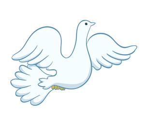 flying dove illustration. vector