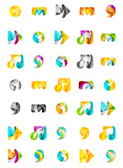 Set of abstract universal web icons, business logotype concepts