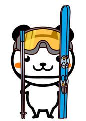 スキーの動物シリーズ