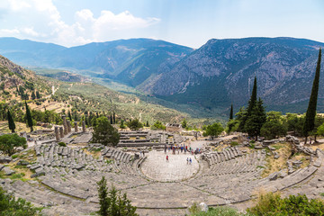 Wall Mural - Ancient theater in Delphi