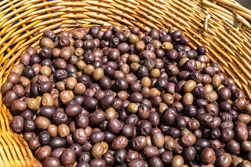 Ripe fresh olives