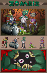 Zombies in the forest
