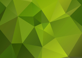 bright green polygonal background