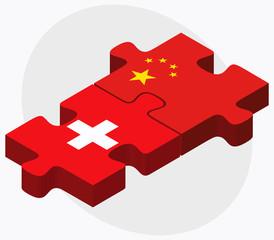 Switzerland and China Flags