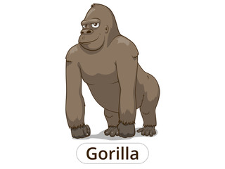 Gorilla cartoon vector illustration