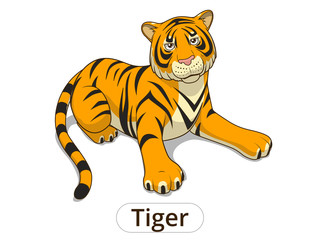 Tiger cartoon vector illustration