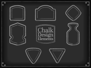 Vector illustration chalk design elements