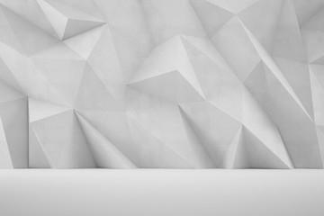Ściana beton 3D geometryczne kształty
