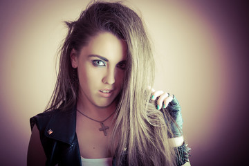 Young beautiful and sexy punk girl