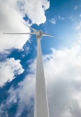 Wind Turbine over clouds