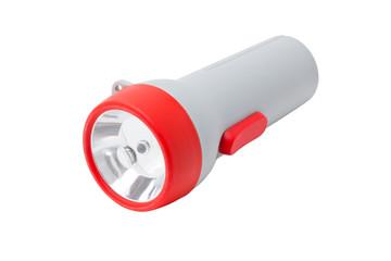 Flashlight isolated on white.