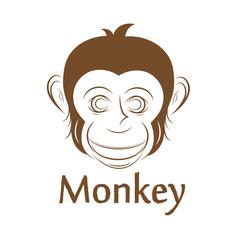 Monkey face, illustration
