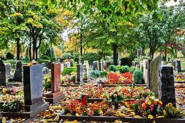 Graveyard in Autumn, Germany