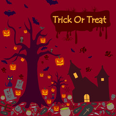 Happy Halloween holiday celebration background