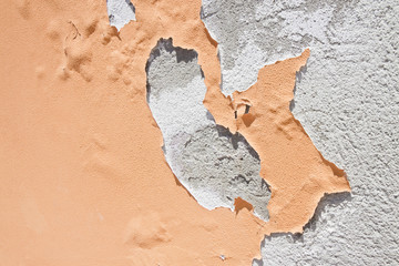 Damaged colored plaster - Image with copy space