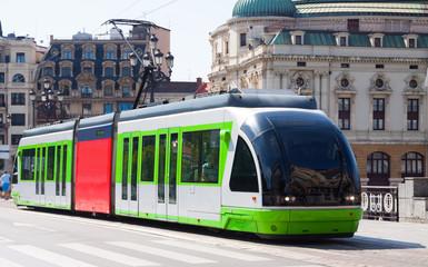 Ordinary tramway in Bilbao