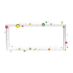 Happy birthday frame