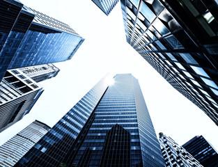 New York City skyscrapers from below, Manhattan
