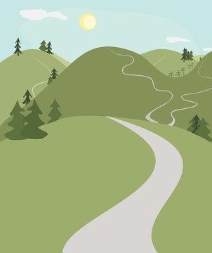 hill roads landscape
